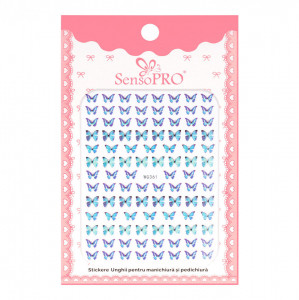 Abtibilduri unghii SensoPRO Magic Butterfly, model WG361
