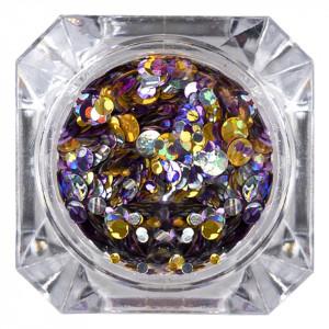 Confetti Unghii 026 Metallic Glam - LUXORISE