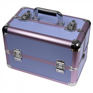 Geanta Manichiura din Aluminiu, Perfect Organizer, Purple - LUXORISE