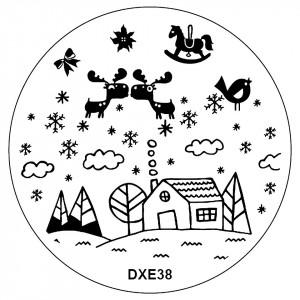Matrita Metalica Stampila Unghii DXE38 - Winter's Tale