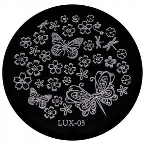 Matrita Metalica Stampila Unghii LUX-03 - Nature