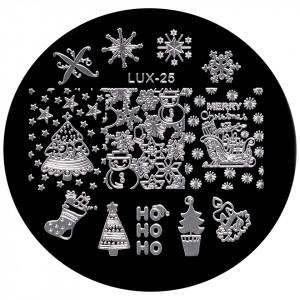 Matrita Metalica Stampila Unghii LUX-25 - Winter's Tale