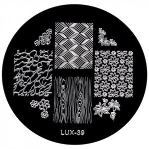 Matrita Metalica Stampila Unghii LUX-39 - Nature