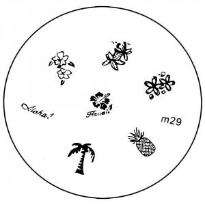 Matrita Metalica Stampila Unghii M29 - Nature
