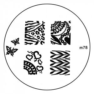 Matrita Metalica Stampila Unghii M78 - Nature