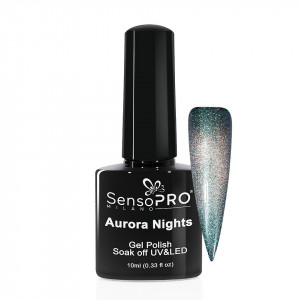 Oja Semipermanenta Aurora Nights SensoPRO 10ml - 03 Smarald Sky