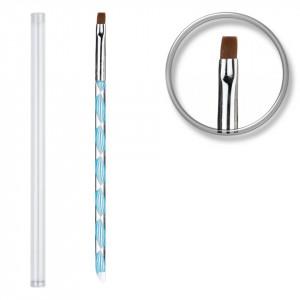 Pensula unghii aplicare gel UV Blue Twirl #06