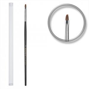 Pensula unghii aplicare gel UV nr.2 cu etui tubular - Sheen Black