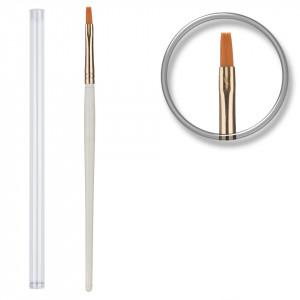 Pensula unghii aplicare gel UV nr.6 cu etui tubular - Golden Brush