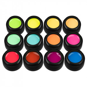 Set 12 Geluri UV Colorate Neon City Collection, SensoPRO Milano