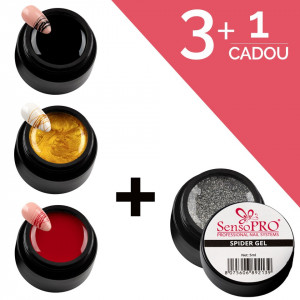 Set Unghii Spider Gel SensoPRO 3+1 Cadou