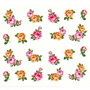 Tatuaj unghii A026 flori