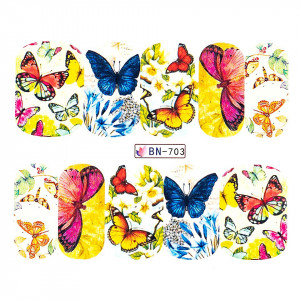 Tatuaj unghii LUXORISE, Butterfly BN-703