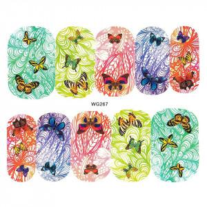 Tatuaj unghii LUXORISE, Butterfly WG267