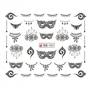 Tatuaj unghii LUXORISE, Fantasy BN-981