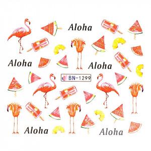 Tatuaj unghii LUXORISE, Flamingo BN-1299