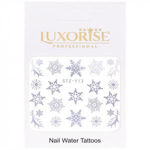 Tatuaj unghii LUXORISE, Winter STZ-Y13 argintiu
