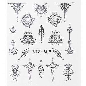 Tatuaj unghii STZ-609 abstract