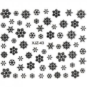 Abtibild unghii XJZ-43 Atmosfera de Sarbatori – Perdea de Nea