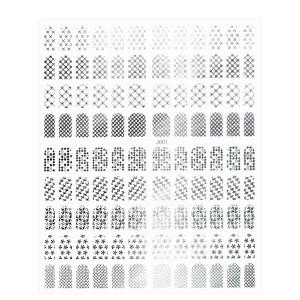 Folie Stickere unghii, model J001 - Silver