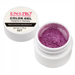 Gel UV Color cu Sclipici ENS PRO #027 - Liliac Glitter