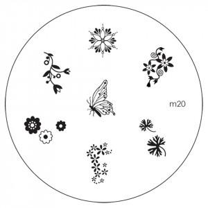 Matrita Metalica Stampila Unghii M20 - Nature