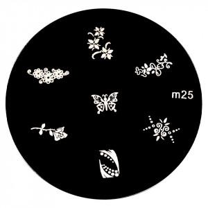 Matrita Metalica Stampila Unghii M25 - Nature