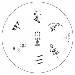 Matrita Metalica Stampila Unghii M5 - Nature