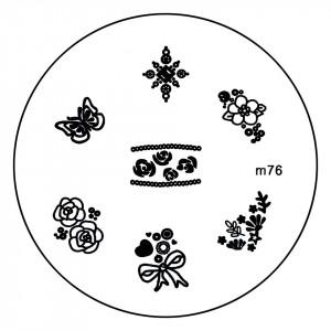 Matrita Metalica Stampila Unghii M76 - Nature