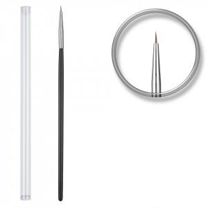 Pensula nail art pentru linii fine cu etui - Black