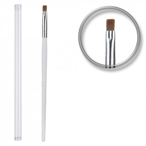 Pensula unghii profesionala aplicare gel UV nr. 4, 6 sau 8 cu etui tubular