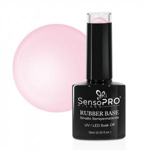 Rubber Base Gel SensoPRO Milano 10ml, #20 Graceful Pink