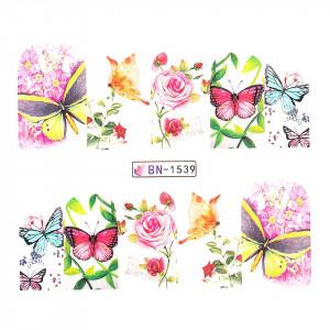 Tatuaj unghii LUXORISE, Butterfly BN-1539