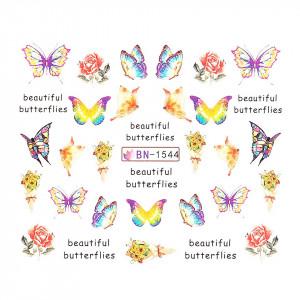 Tatuaj unghii LUXORISE, Butterfly BN-1544