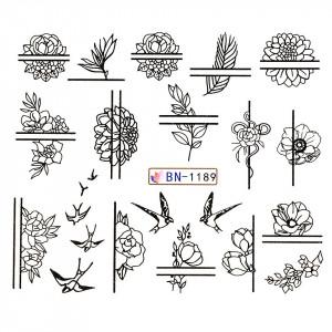 Tatuaj unghii LUXORISE, Fantasy BN-1189
