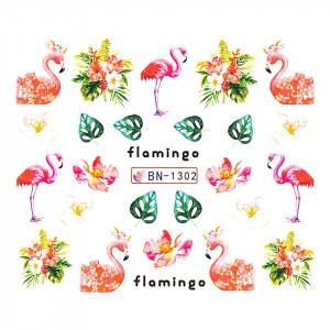 Tatuaj unghii LUXORISE, Flamingo BN-1302