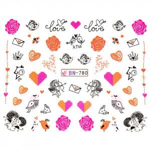 Tatuaj unghii LUXORISE, Love BN-780