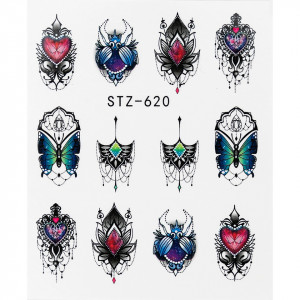 Tatuaj unghii STZ-620 abstract