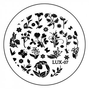 Matrita Metalica Stampila Unghii LUX-07 - Nature
