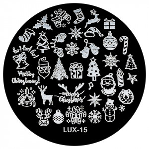 Matrita Metalica Stampila Unghii LUX-15 - Winter's Tale