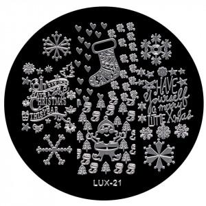 Matrita Metalica Stampila Unghii LUX-21 - Winter's Tale
