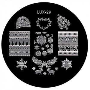Matrita Metalica Stampila Unghii LUX-29 - Winter's Tale