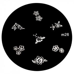 Matrita Metalica Stampila Unghii M26 - Nature