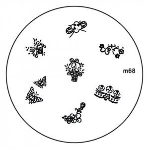 Matrita Metalica Stampila Unghii M68 - Nature