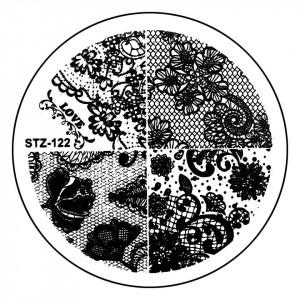 Matrita Metalica Stampila Unghii STZ-122 - Nature