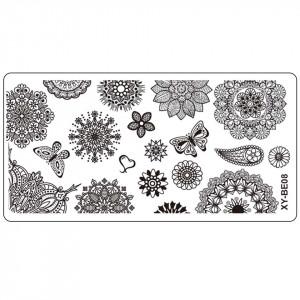 Matrita Metalica Stampila Unghii XY-BE08 - Mandala