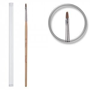 Pensula unghii aplicare gel UV nr.1 cu etui tubular - Deep Peach
