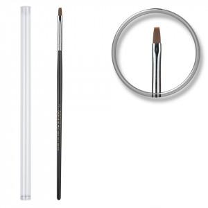 Pensula unghii aplicare gel UV nr.3 cu etui tubular - Black Sand