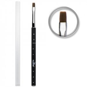 Pensula unghii aplicare gel UV nr.6 cu etui tubular - SensoPRO