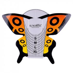 Sabloane Constructie Unghii Fluture Portocaliu, LUXORISE 50 buc